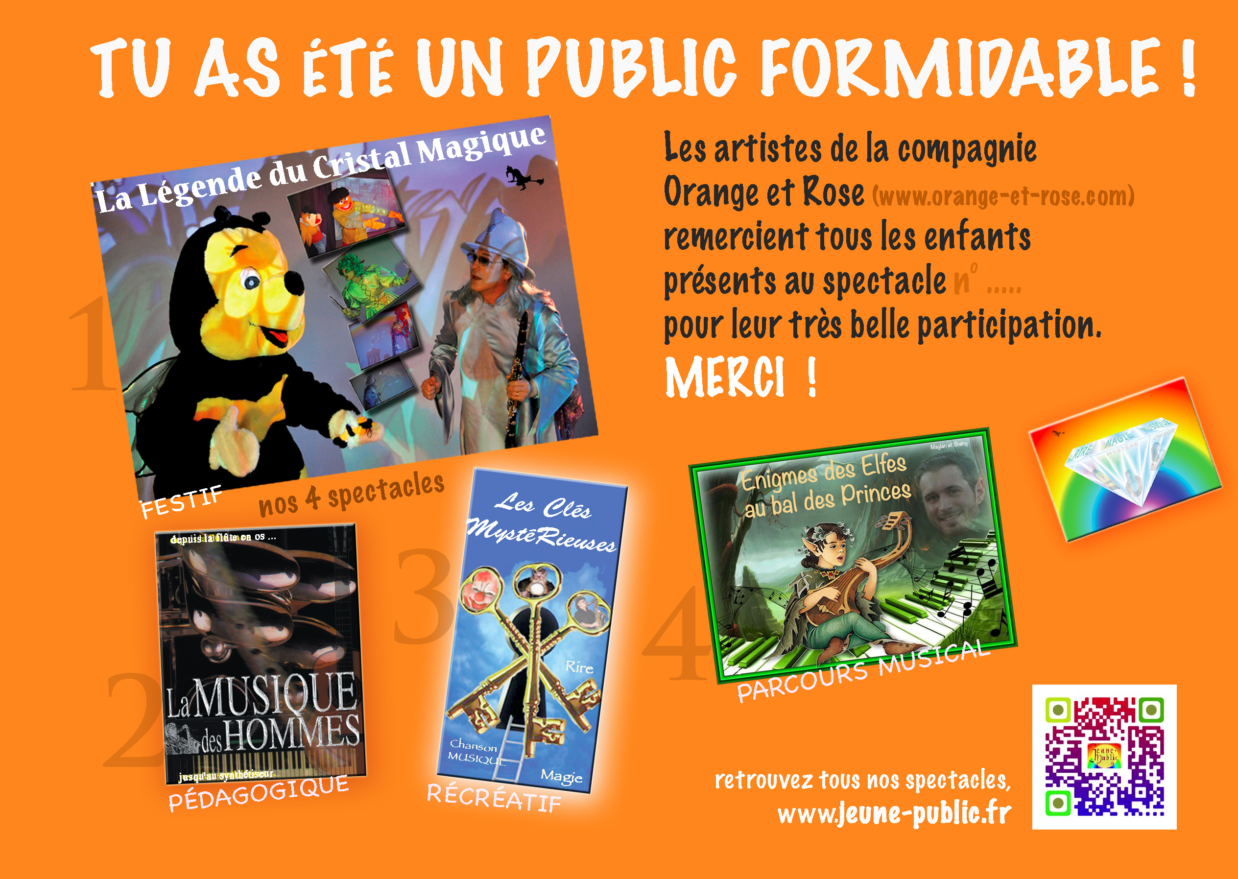 flyer spectacle enfants recto